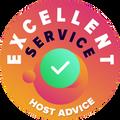 """Ми приділяємо час, щоб персонально та анонімно перевірити служби техпідтримки кожної компанії. """"Badge of excellence"""" дають компаніям, які виконали високі стандарти HostAdvice по обслуговуванню клієнтів, якщо вони довели, що їхній сервіс швидкий, ефективний, адекватний і найголовніше корисний."""