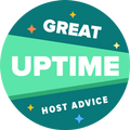 This award is given to hosting companies that have successfully passed our 99.9% uptime test