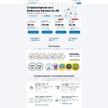 Contabo HomePage Screenshot
